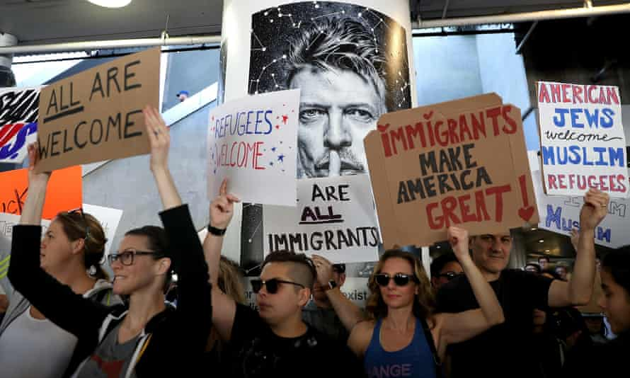 A rally at LAX, where Joss Whedon, Ellen Page, Kumail Nanjiani and Tim Robbins joined the protest.