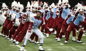 The Talladega College marching band.