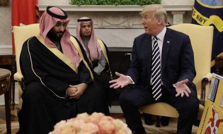 Donald Trump meets with Saudi Crown Prince Mohammed bin Salman in the Oval Office in March.