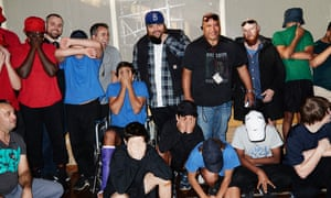 Briggs with Reiby inmates and staff