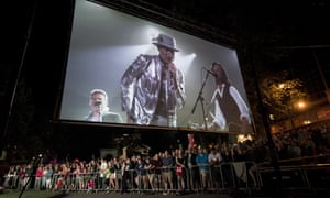 Gord Downie appears on a big screen in Halifax, Nova Scotia