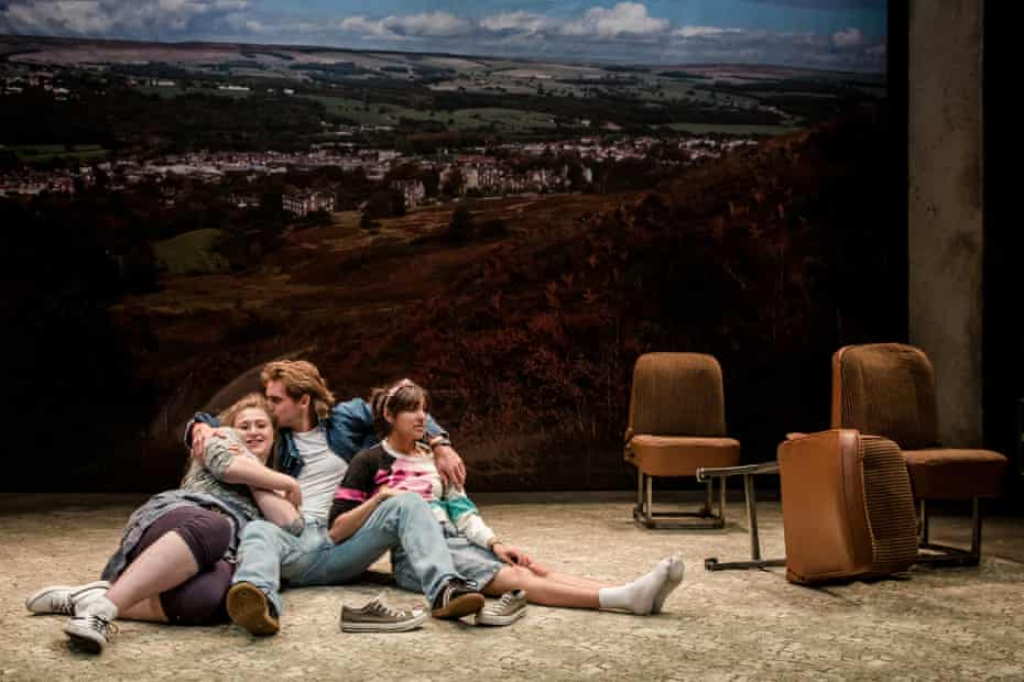 Limited horizons … Gemma Dobson as Sue, James Atherton as Bob and Taj Atwal as Rita.