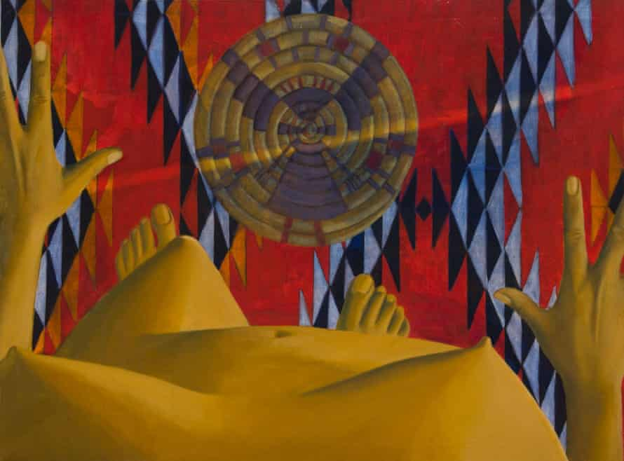 Untitled, 1969, by Luchita Hurtado, part of her 'I Am' series of paintings.