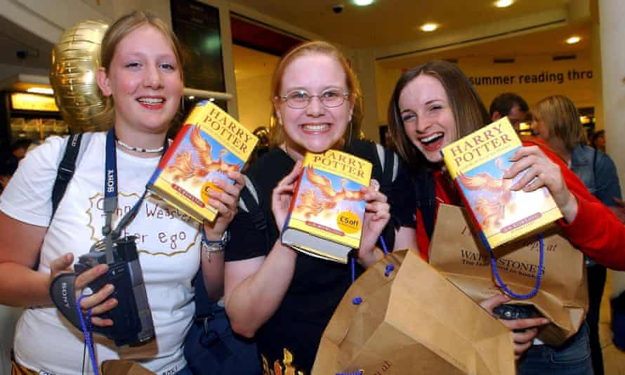 Now they're reading grip lit, doing adult colouring and eating clean … fans at the launch of Harry Potter and the Order of the Phoenix in 2003.
