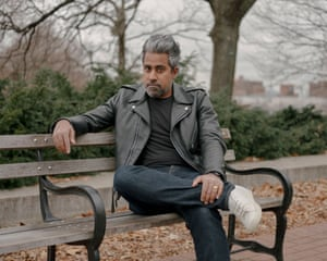 """Anand Giridharadas poses for a portrait at Fort Greene Park in Brooklyn. In August 2018, Mr. Giridharadas published the book """"Winners Take All: The Elite Charade of Changing the World"""" which investigates philanthrocapitalism"""