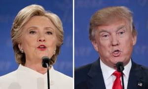 US presidential candidates Democrat Hillary Clinton and Republican Donald Trump.