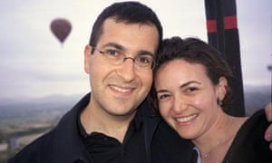 A photo of Dave Goldberg, the Facebook executive, who died suddenly on May 2, 2015. He is pictured with his wife Sheryl Sandberg. Photo posted by Sheryl Sandberg on facebook.