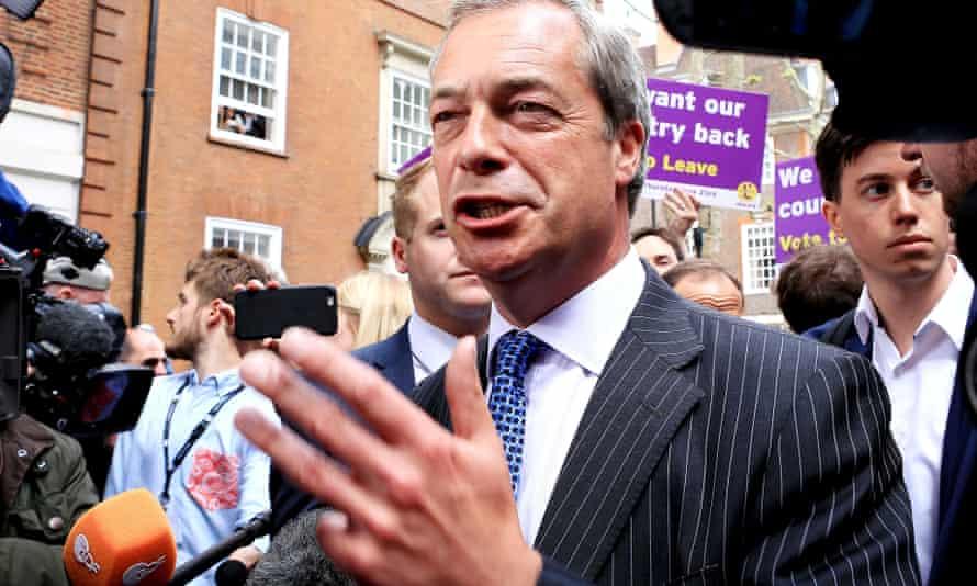 Nigel Farage launches Ukip's new EU referendum poster campaign.