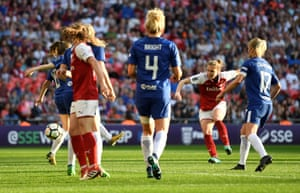 Vivianne Miedema slots home to put Arsenal back in the match.