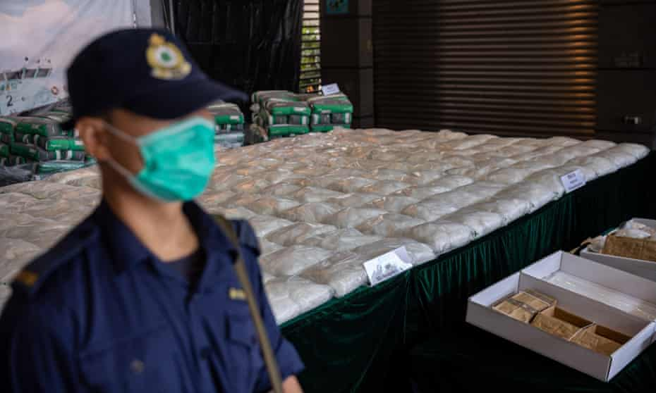 A half-tonne shipment of methamphetamine detected on 29 October 2020 in Hong Kong was bound for Melbourne