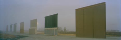 US - Mexican border, San Diego, USA, May 2018Prototypes for the planned border wall