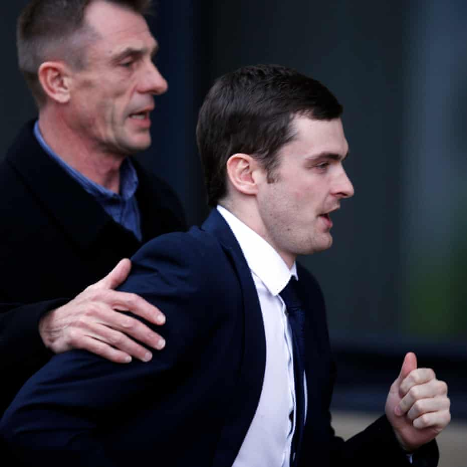 Adam Johnson denied all four of the allegations until the first day of his trial, when he pleaded guilty to one count of grooming and one count of kissing the schoolgirl.