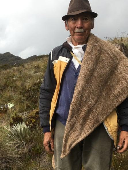 Local farmer José Álvaro on a hillside.