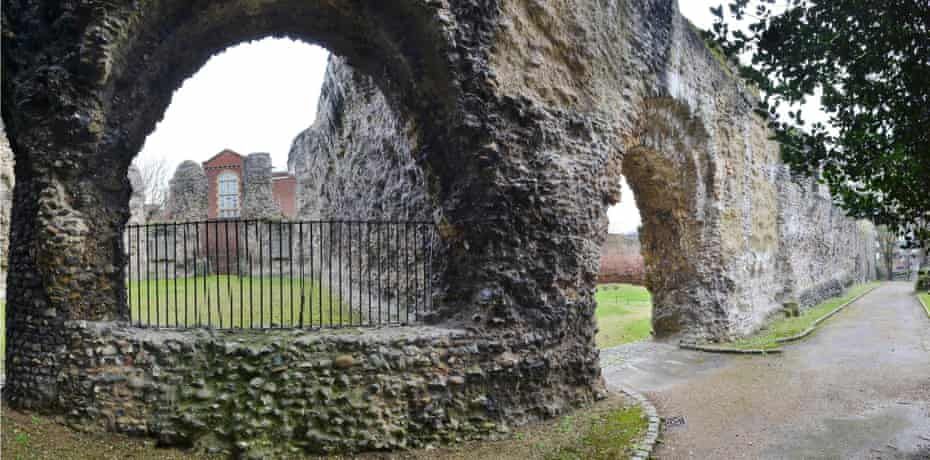 The ruins of Reading Abbey, founded by Henry I.