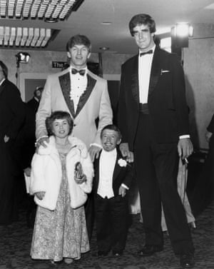 David Prowse, Peter Mayhew, Kenny Baker and his wife Eileen at the 'Star Wars - The Empire Strikes Back' film premiere, London, Britain - 20 May 1980