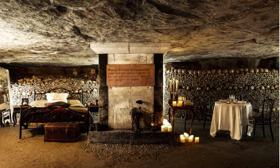 For one night only, two people will have the chance to experience a Halloween night 20m under Paris in the catacombs.