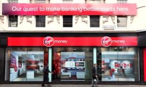 A Virgin Money branch