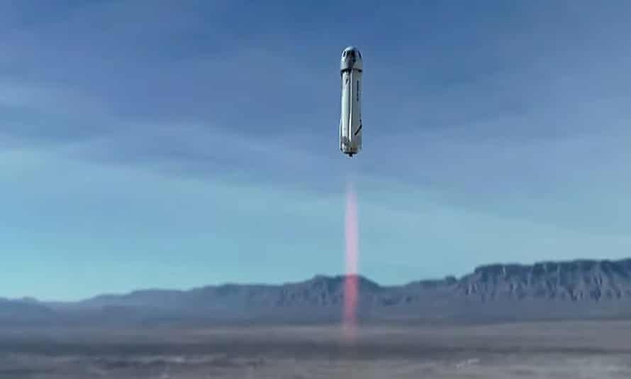 Blue Origin's New Shepard lifts off from Van Horn in Texas, US
