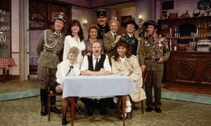 Gorden Kaye and the cast of 'Allo 'Allo!' in the late 1980s.