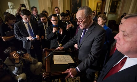 Schumer said of Trump: 'With his tweet this morning, the president made sure that the meeting is nothing but a photo-op. These issues are far too serious for these kinds of games.'