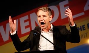 Björn Höcke speaks at an election campaign event