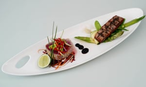 Tuna loin two ways.