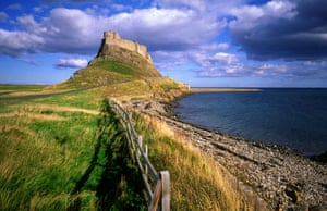 Lindisfarne Castle on Holy Island in Northumberland.