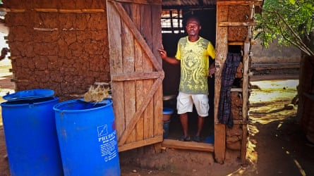 Dominic Kyei Manu welcomes the income he makes from harvesting and selling palm weevil larvae in Ghana.