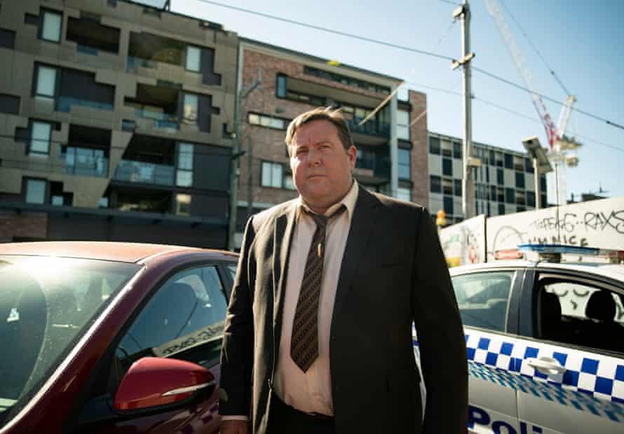Barry (Shane Jacobson) in a scene from the final season of the long-running ABC detective series, Jack Irish.