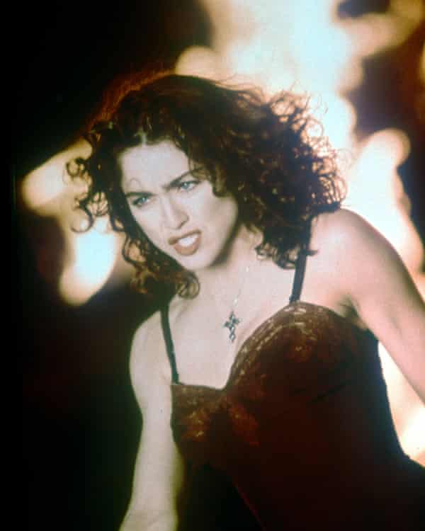 Madonna in the video for Like a Prayer, 1989.