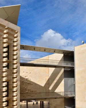 Malta, World Heritage Site, Valletta, The parliament, built by italian architect Renzo Piano