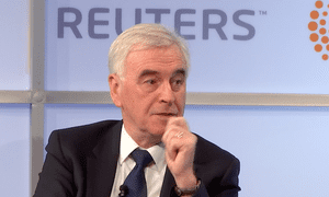 John McDonnell was equivocal about whether remain would be an option in a second referendum.