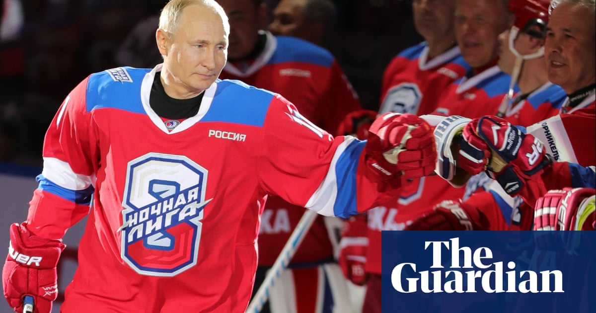 Vladimir Putin Scores At Least Eight Goals In Hockey Exhibition Then Falls On Face Sport The Guardian