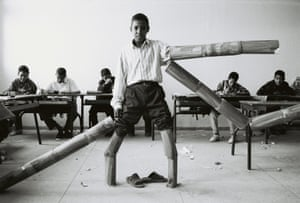 A student in a Marrakech school, from the series The Classroom.