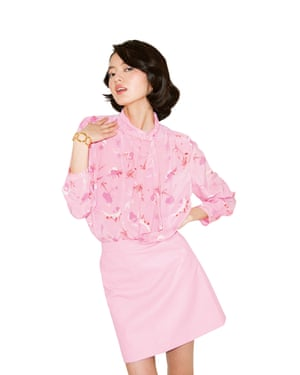 Jing wears skirt, £32, blouse, £60, and shoes, £56, all topshop.com. Bracelet, from a selection, dinnyhall.com