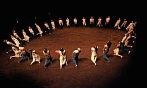 'Surreal and dreamlike' … The Rite of Spring by Pina Bausch for Tanztheater Wuppertal, performed on a stage of soil at Sadler's Wells, London, 2008.