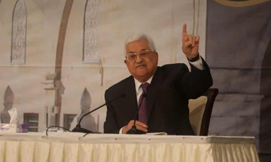 The arrest is part of a growing campaign by Mahmoud Abbas, above, leader of the Palestinian Authority, against dissent on social media.
