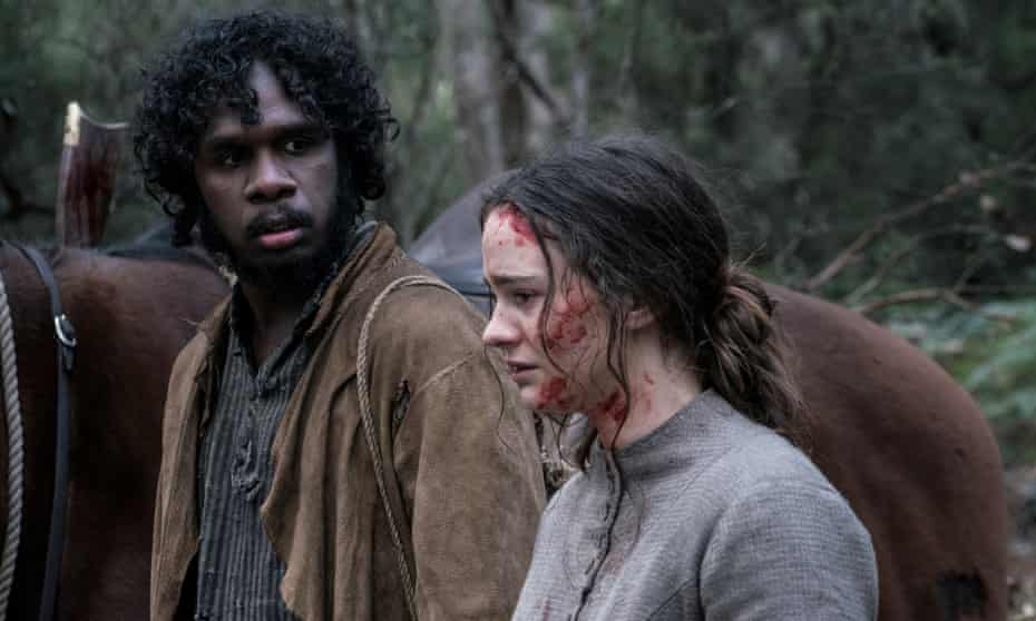 Grisly gothic thriller ... Baykali Ganambarr and Aisling Franciosi.