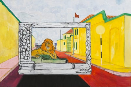 Lion in the Road (Sailors), 2019 by Peter Doig.
