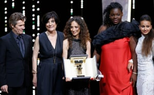 French-Moroccan director Houda Benyamina receives the Camera d'Or award for Divines