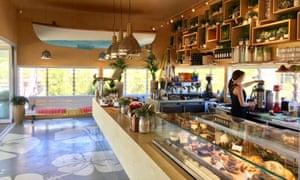 Interior of The Orange Box cafe at Leighton, Western Australia.