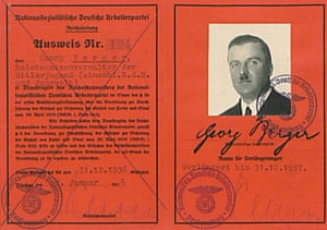Georg Berger's Nazi party card from 1936