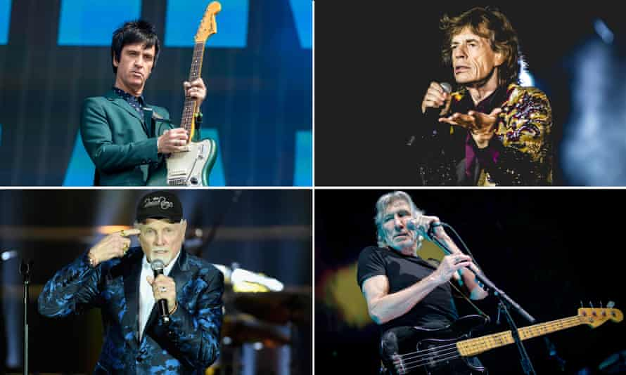 Johnny Marr, Mick Jagger, Roger Waters and Mike Love