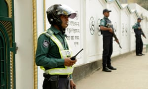 Security at Dhaka mosque