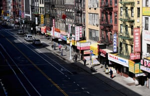 The Chinatown district in New York City this week