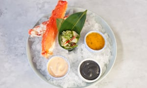 'The restaurant's shtick': red crab on ice.