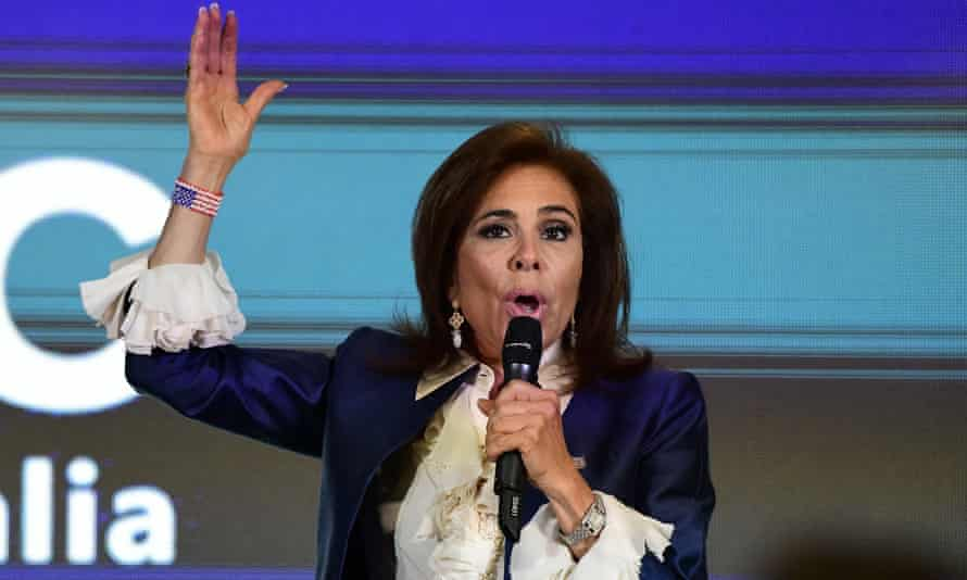 Jeanine Pirro addresses a conservative event in Sydney last year.
