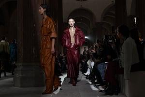 Salvatore Ferragamo show at Milan fashion week.