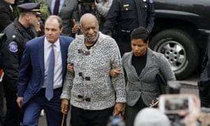 Bill Cosby arrives at court to face a felony charge of aggravated indecent assault on Wednesday in Elkins Park, Pennsylvania.