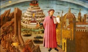 Dante and the Divine Comedy (The Comedy Illuminating Florence), 1464-1465, by Domenico di Michelino